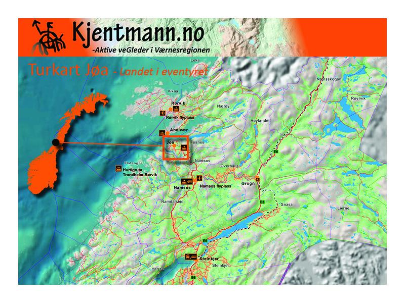 kart over jøa Kjentmann :: Kart kart over jøa